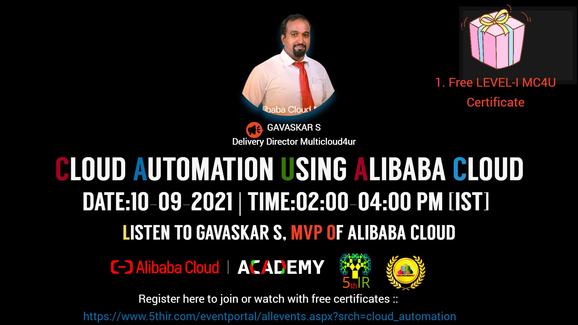 Cloud Automation using Alibaba Cloud